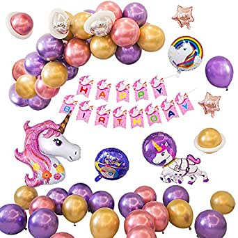 SPECOOL Decoraciones Fiesta Unicornio para Niños, Globos ...