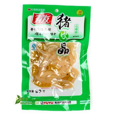 Pigskin Grain ((有友猪皮晶)10x90g China Chongqing specialty salamanders flavor grain pigskin Chinese Ltd)