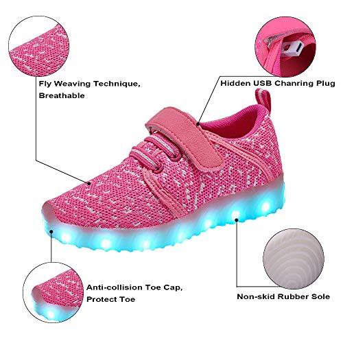 Garçon Pour Enfant Bleu Lumineuse Couleur Chaussure Fille Bybetty Chaussures Clignotants 7 pS80vgq