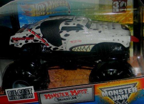 2012 1/64 HOT WHEELS MONSTER JAM GRAVE DIGGER 30TH ANNIVERSARY EDITION MONSTER MUTT DALMATION (Hot Wheels Monster Jam Grave Digger 30th Anniversary)