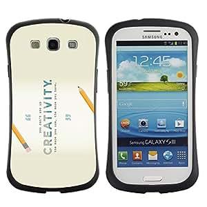 "Pulsar iFace Series Tpu silicona Carcasa Funda Case para SAMSUNG Galaxy S3 III / i9300 / i747 , Creatividad Lápiz Escuela invención inspirada"""