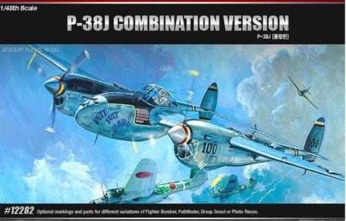 Academy-1/48 Plastic Model Kit P-38 P-38J P-38L F-5E DROOPSNOOT NIB 12282