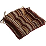 Brentwood Chenille Stripe Chairpad, Red
