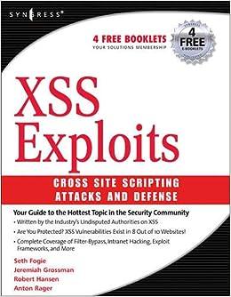 Xss Attacks: Cross Site Scripting Exploits and Defense: Amazon.es: Jeremiah Grossman, Robert Hansen, Petko Petkov: Libros en idiomas extranjeros