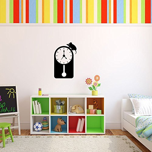 Hickory Dickory Dock Nursery Rhyme Vinyl Wall Decoration for Children's Playroom or Baby Nursery
