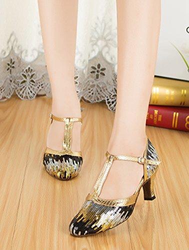 De de Black Gold Salón Joymod 6cm Heel Sintético MGM Mujer ZPxOwqw