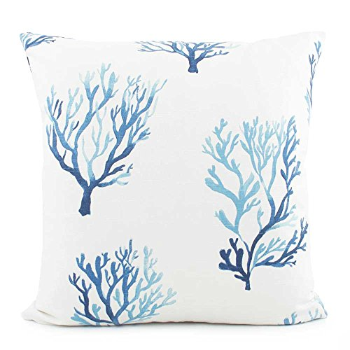 Chloe & Olive Beach Ocean Coral Toss Pillow Cover - 18