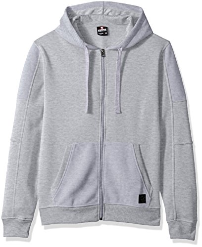- Southpole Men's Fashion Hooded Top, Heather Grey(Biker), Medium