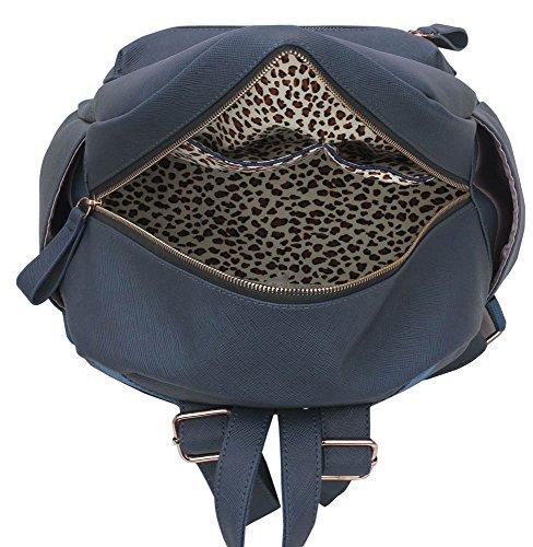 LeahWard® Damen Mädchen Rucksack Rucksack Schule Taschen Damen Qualtiy Mode Kunstleder Handtasche CWS00186 CWS00186A CWJM841 186A Marine GSVcHXniJ