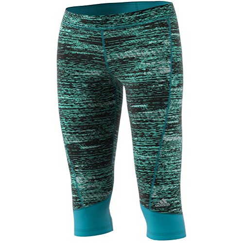 adidas Women's Techfit Capris, Energy Blue Heather, X-Small by adidas (Image #2)