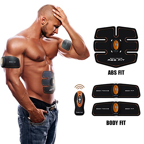IMATE X3 Abdominal Muscle Toner Abs Training Gear Body Fit Toning Belt Wireless Muscle Exercise For Abdomen/Arm/Leg Training IMATE Smart muscle Trainer Portable Home/Office Workout Equipment Support M by IMATE
