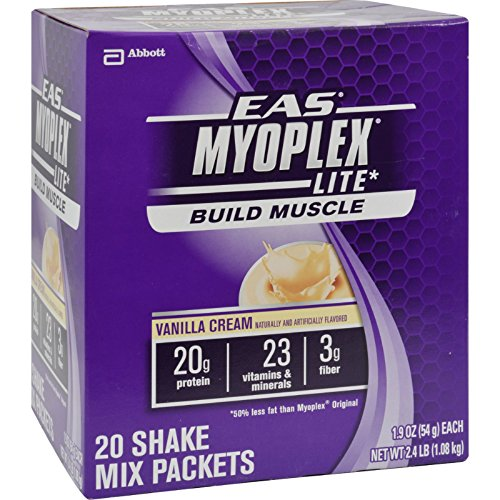 2Pack! EAS Myoplex Lite Nutrition Shake Vanilla Cream - 20 Packets by Protein Shakes and Shots