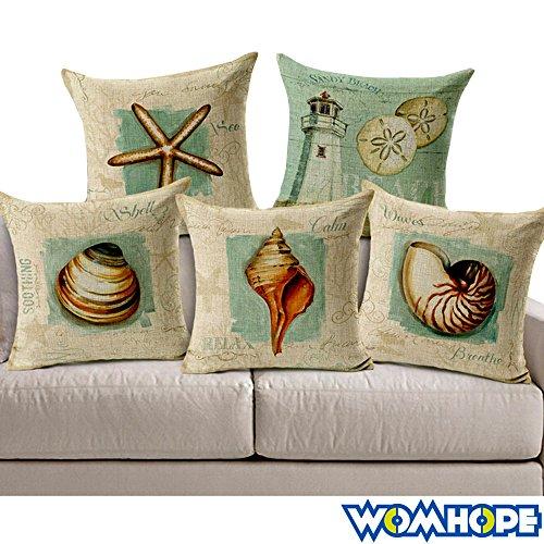 womhope-5-pcs-18-ocean-park-theme-sea-starfish-throw-pillow-case-cushion-cover-fashion-home-decorati