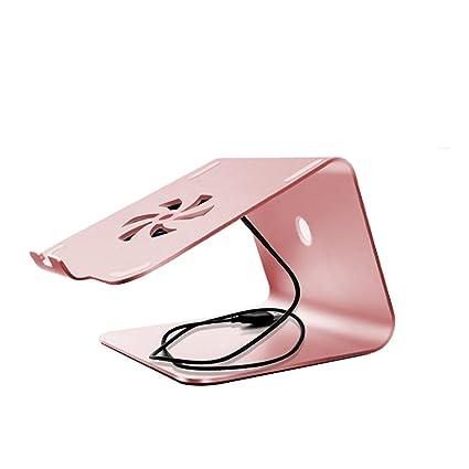 shuang Soporte plegable ajustable del ordenador portátil, mesa de escritorio negra de la aleación de