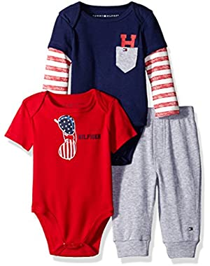 Tommy Hilfiger Baby Boys' Two Bodysuits and Pant Set