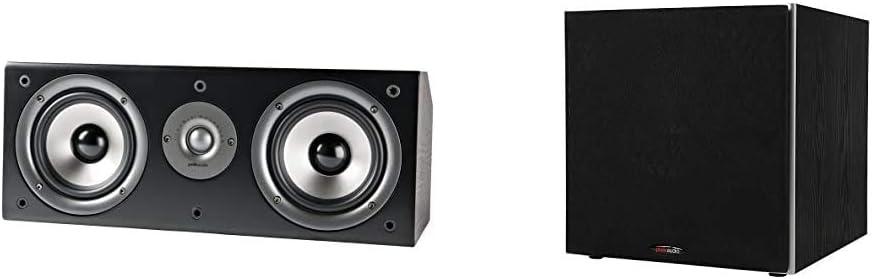 Polk Audio CS1 Series II Center Channel Speaker   Black & PSW10 10