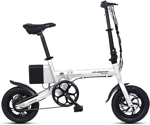 BMDHA Bicicleta eléctrica, pequeña Bicicleta Plegable 7.8 Ah ...