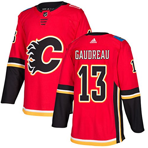 fan products of adidas Men's Calgary Flames #13 Johnny Gaudreau Player Hockey Jersey Red Size 54 f