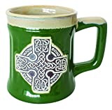 Irish Designed Pottery Mug With A Celtic
