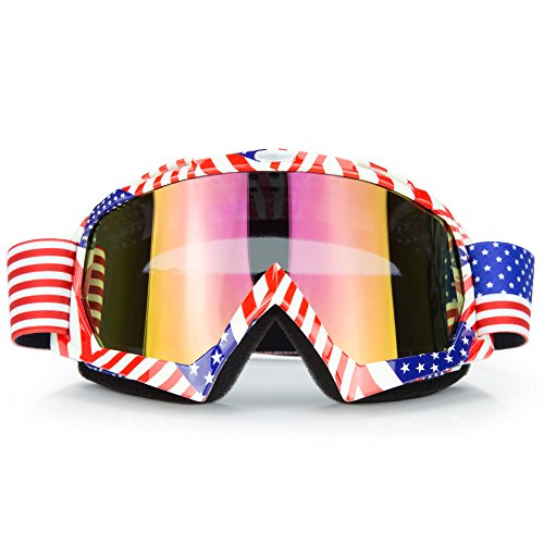 JAMIEWIN Motocross Motorcycle Goggles Motobike Riding Glasses and Dirt Bike ATV Downhill Goggles Mx Goggle Glasses for Adult and Youth (C61) ()