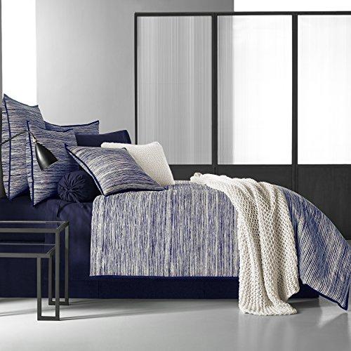 Five Queens Court Felix Indigo 4 Piece 100% Cotton Comforter Set, Blue