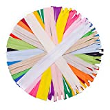 #5: JIUZHU 40 Pieces 22 Inch Nylon Invisible Zippers Bulk for Sewing Crafts (20 Colors)