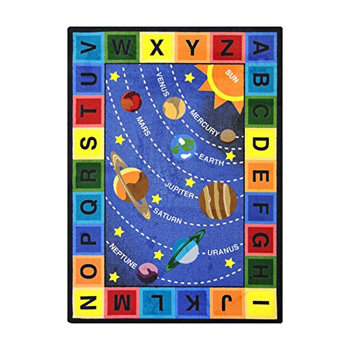 Joy Usa Carpet (Joy Carpets Kid Essentials Geography & Environment Space Alphabet Rug, Multicolored, 5'4