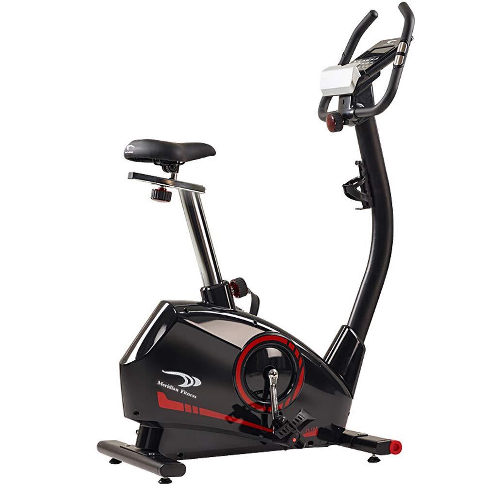 JU FU Elektromagnetische Kontrolle Heimtrainer Hause stumm Fitnessgeräte Indoor-Fahrrad Sport Fahrrad schwarz Geeignet für Büroangestellte