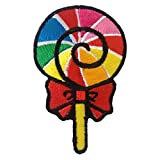 Sweet Candy Dessert Rainbow Iron on Patches Embroidered