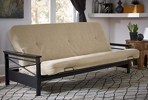 DHP 6-Inch Futon Memory Foam Mattress, Fits Full Size Futon, Tan