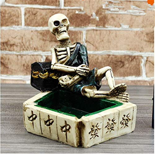 Make life wonderful Creative Funny Variety of Shapes Skeleton Ashtrays Halloween Scene Costume Party Home Office Decor Gift (Style 2) -