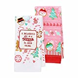 "St. Nicholas Square 2-Pack Christmas Kitchen Towels - ""A Balanced Diet is a Cookie in Each Hand"""