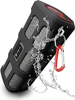 TREBLAB FX100 Bluetooth Speaker - Water-resistant, Dustproof, Shockproof. Best Outdoors Wireless Speakers w/ Portable 7000mAh Powerbank, Loudest HD Audio Sound w/ Deep Bass, Loud Speakerphone, 2017