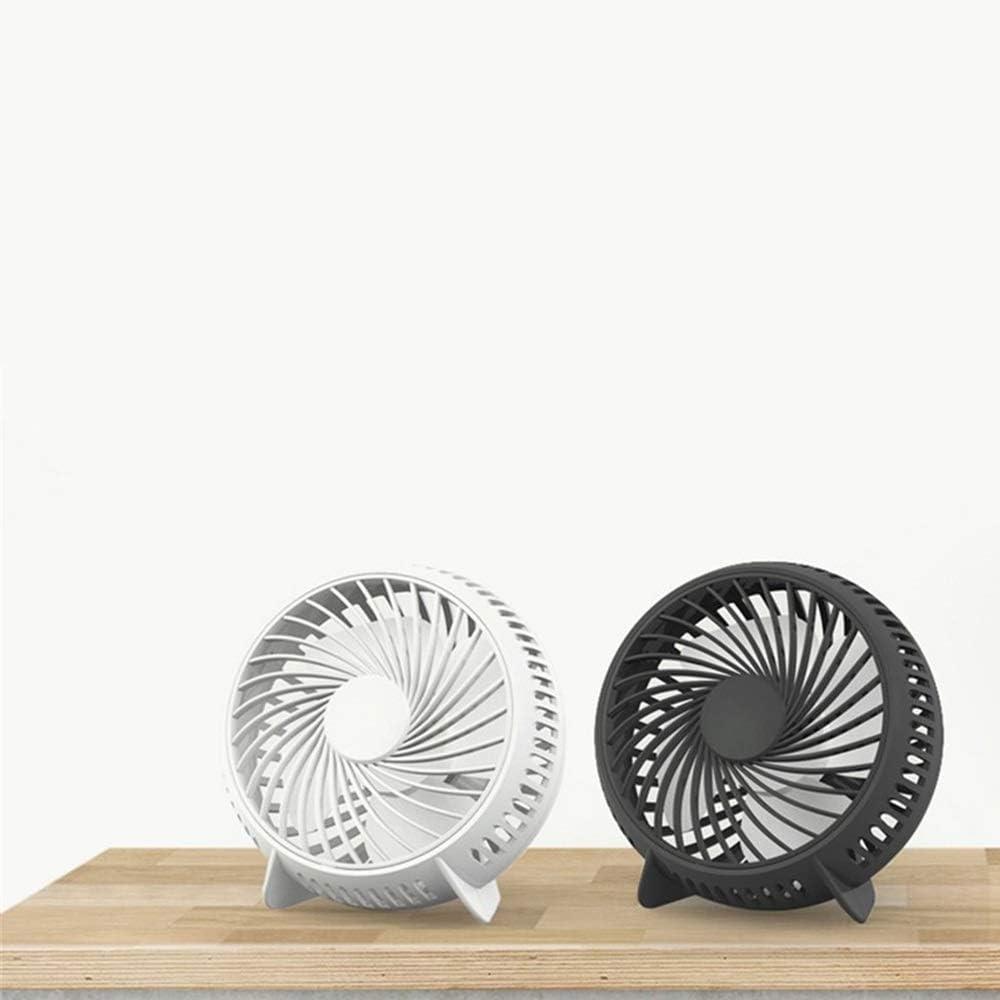 Color : Pink Air Cooler Small Fan 4 Inch USB Fan Desktop Student Dormitory Mini Fan Cycle Fan Table Fan