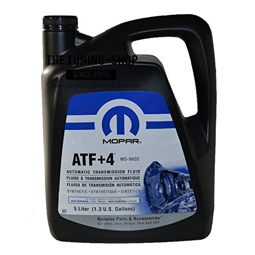 Genuine Chrysler Accessories (5013458AA) (68218058AC) ATF+4 Automatic Transmission Fluid - 1.3 Gallon / 5 Liter by Genuine Chrysler