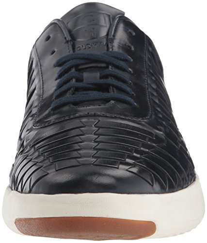 Cole Haan Men's Grandpro Tennis Huarache Sneaker, Woodbury Woven Burnish Navy Woven Burnish