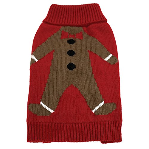 FouFou Dog 62601 Gingie Ugly Christmas Sweater for Dogs, 2X-Large by FouFou Dog