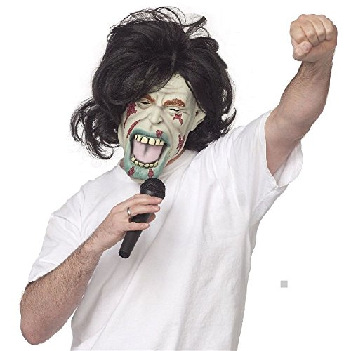 Zombie Tennis Player Costume (Zombie Costume Mask Adult Funny Rockstar Celebrity Halloween Fancy Dress)