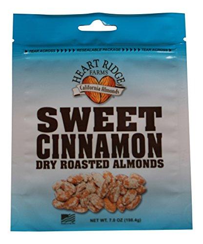 Roast Almonds - Heart Ridge Farms Gourmet Dry Roast California Almonds- 3 bags 7 ounces each (Sweet Cinnamon (3 bags))
