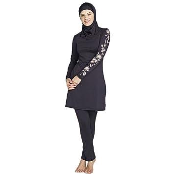 5e4bb3d3f3b Women Plus Size Printed Floral Muslim Swimwear Arab Islamic Swimsuit Women  Hijab Muslim Swimming Beachwear (