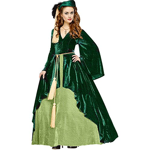 Fun World Women's Gone with the Wind-Scarlet O'hara Costume, Green, Small -