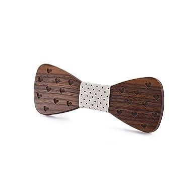 Corbata, 2019 hombres de madera de madera de madera pajarita a ...