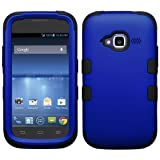 zte concord ii phone cases - Asmyna Titanium TUFF Hybrid Phone Protector Cover for ZTE Z730 Concord II - Retail Packaging - Dark Blue/Black