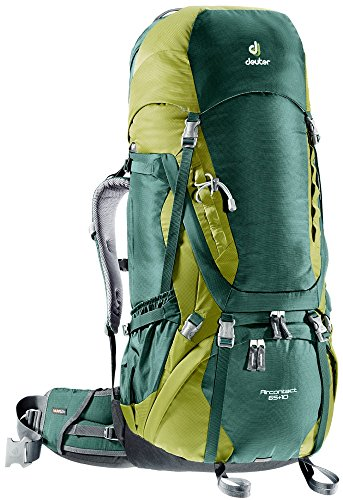Deuter Aircontact 65+10 Backpack - Granite/Emerald
