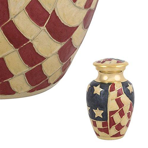 Perfect Memorials Old Glory Brass Keepsake Cremation Urn