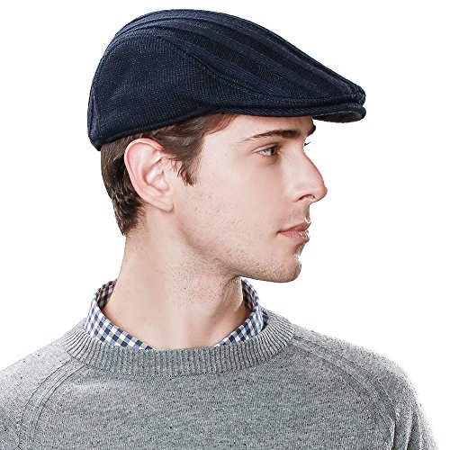 Wool Newsboy Cap for Men Winter Hat Fitted Hunting Ivy Flat Cap British Drivers Cap for Guys L XL SIGGI