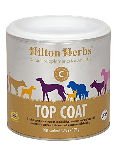 Hilton Herbs Canine Top Coat Supplement for Healthy Skin & Coat Condition in Dogs, 4.4 oz Tub Review