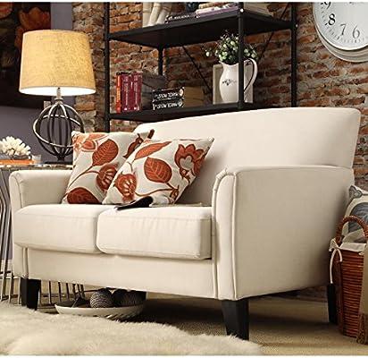 Modern Loveseat Many Variations Leather Or Linen For Living Room