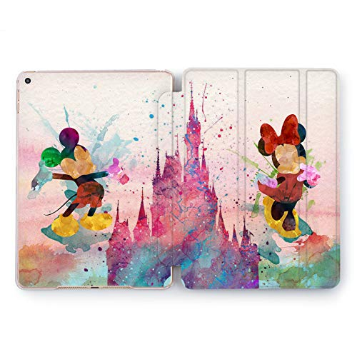 Wonder Wild Mickey and Minnie Hard Shell Case iPad Mini 1 2 3 4 Air 2 Watercolor Tablet Cover Pro 10.5 12.9 2018 2017 9.7 inch 5th 6th Generation Cartoon Walt Disney Mouse Fairy Tale Magic Colorful