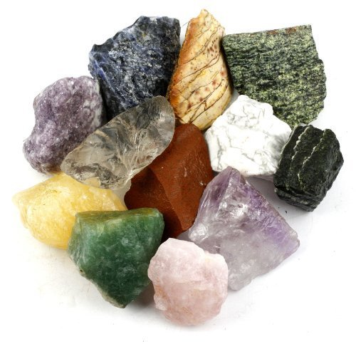 Crystal Allies Materials: 3 Pounds Bulk Rough 10-Stone Assorted Brazilian Mix - Large 1